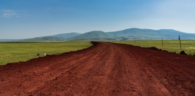 Dirt road leading to a Kurdish village on the outskirts of the medieval town of Ani