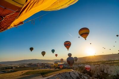 A balloon ride in Cappadocia