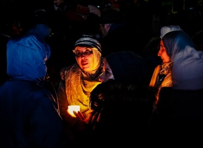 Vigil in memory of the victims of the Quebec mass shooting