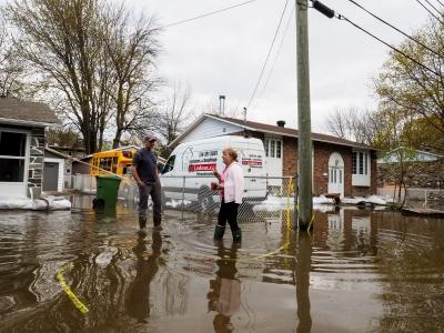 Innondations dans la région de Montréal