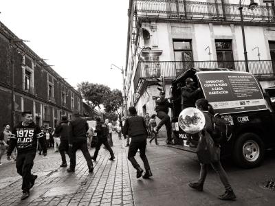 Sur la rue à Mexico