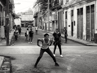 On the street in Havana