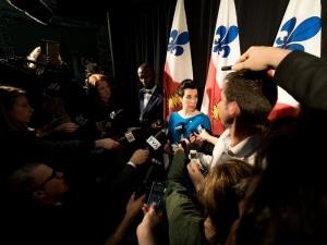 Valérie Plante en point de presse après son assermentation